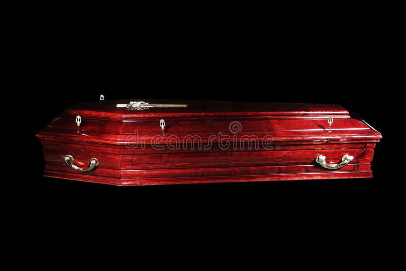 Cercueil de Brown photos libres de droits