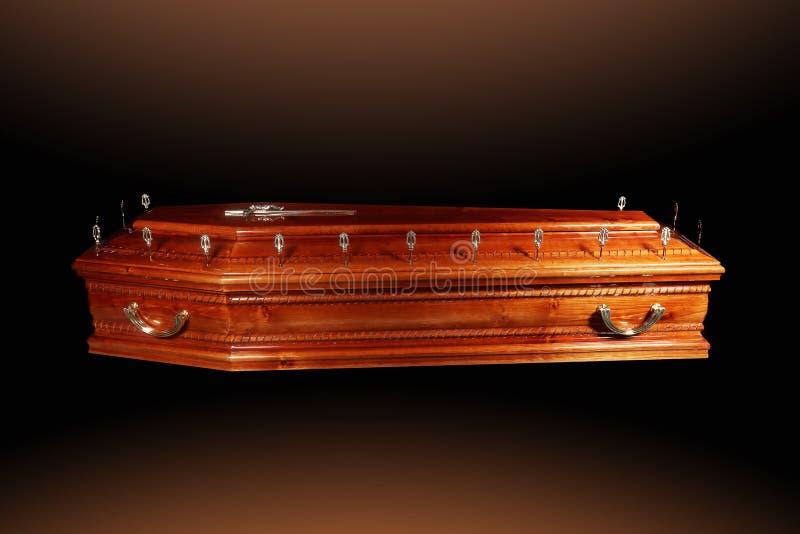 Cercueil de Brown photos stock