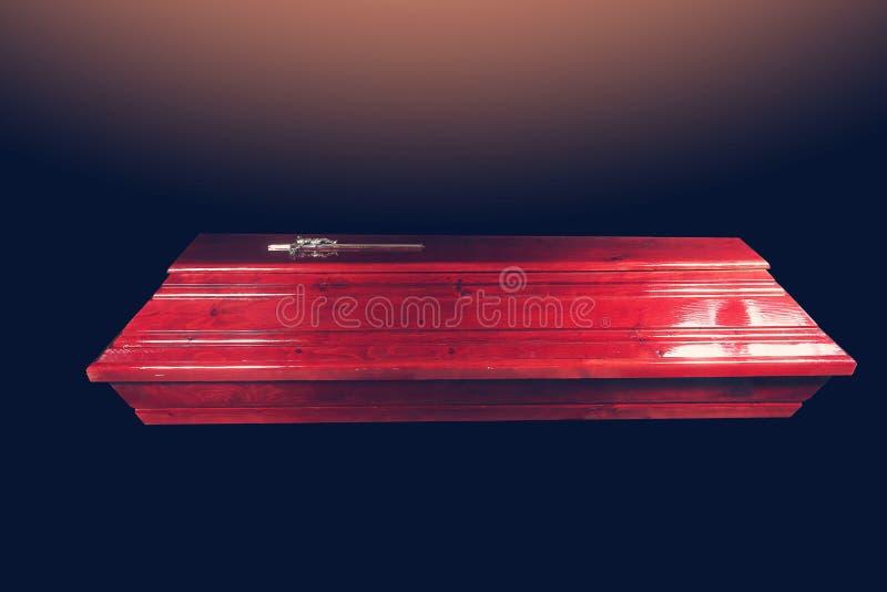 Cercueil de Brown photo stock