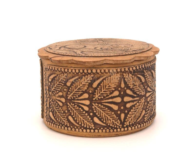Cercueil de gravure sur bois image stock