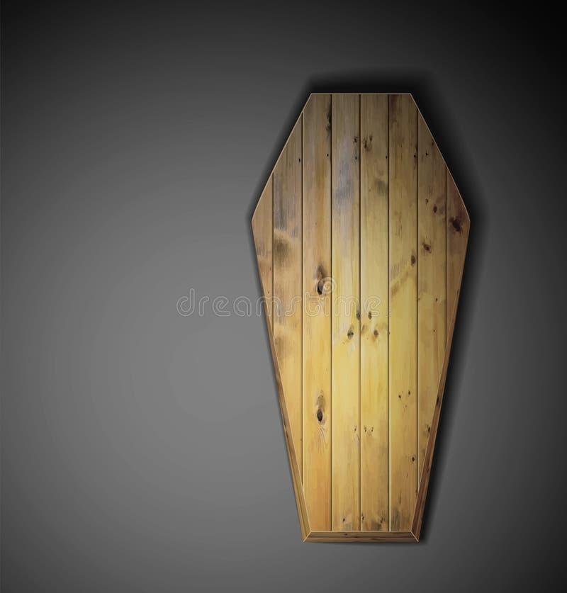 Cercueil en bois illustration libre de droits