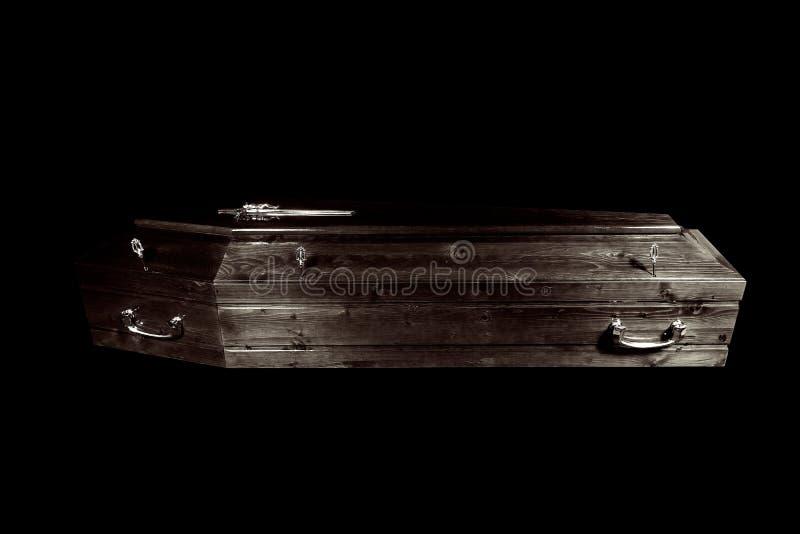 Cercueil noir image stock