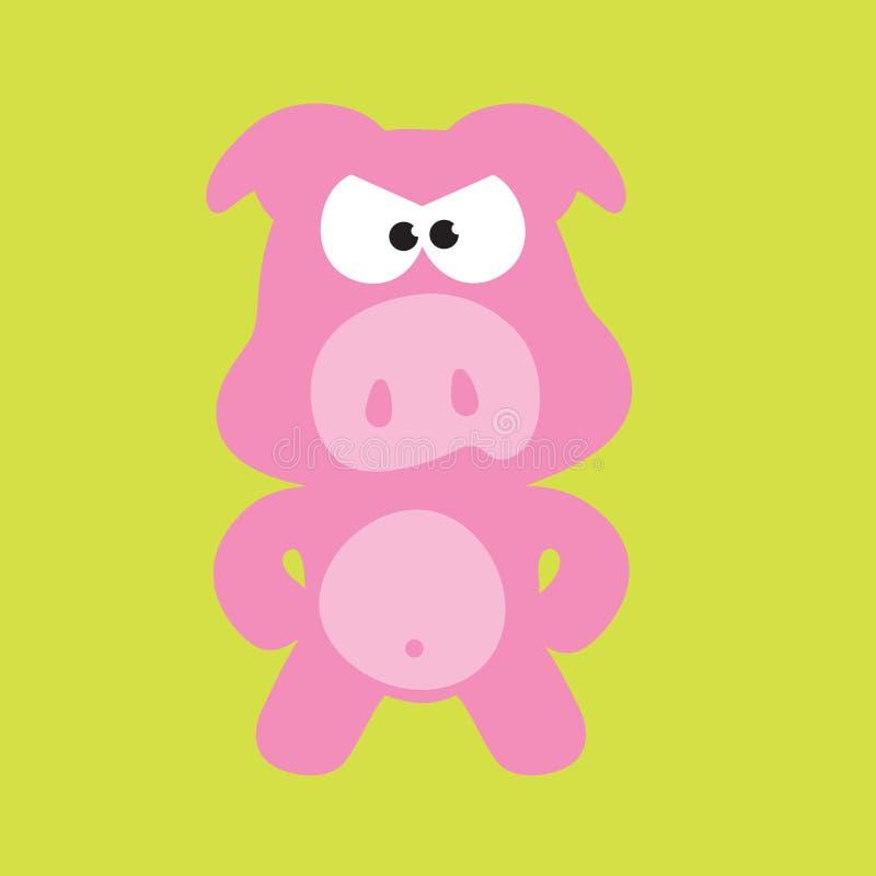 Cerdo/cerdos enojados stock de ilustración
