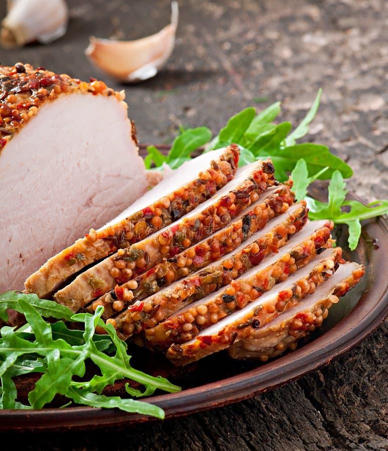 Download Cerdo cocido imagen de archivo. Imagen de miel, festivo - 41921343