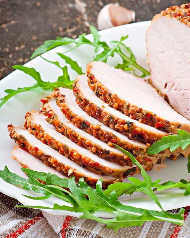 Download Cerdo cocido foto de archivo. Imagen de adorne, cocina - 41921574