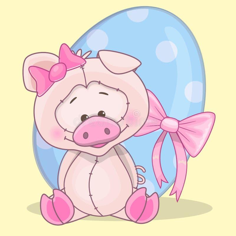 Cerdo con el huevo libre illustration