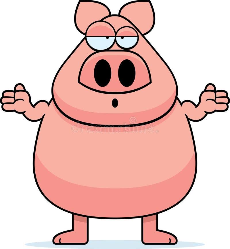 Cerdo confuso stock de ilustración