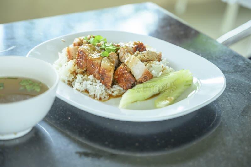 Cerdo crujiente de arroz fotografía de archivo