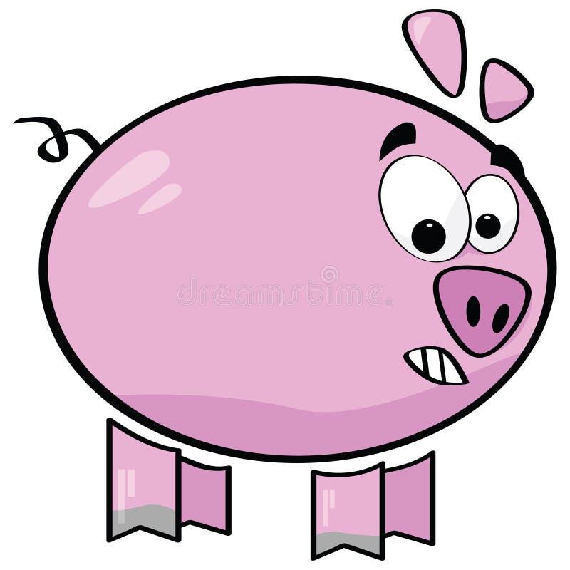 Cerdo de la historieta libre illustration