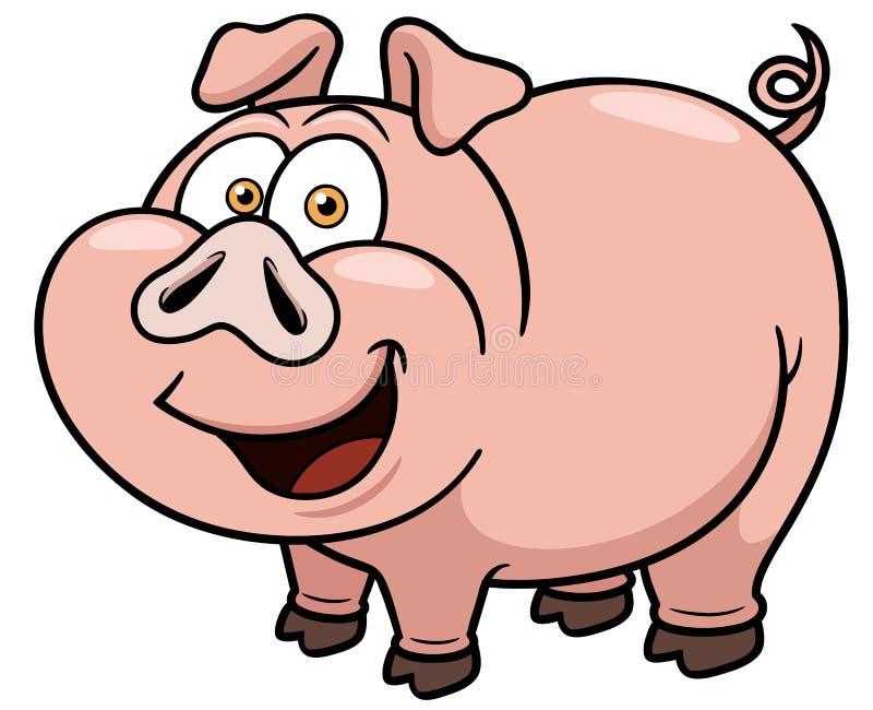 Cerdo de la historieta stock de ilustración