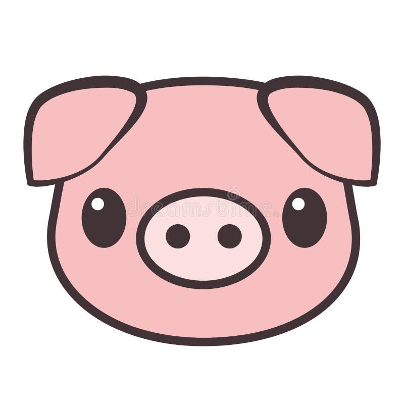 Cerdo de la historieta Ilustración del vector stock de ilustración