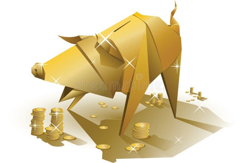 Cerdo de oro libre illustration