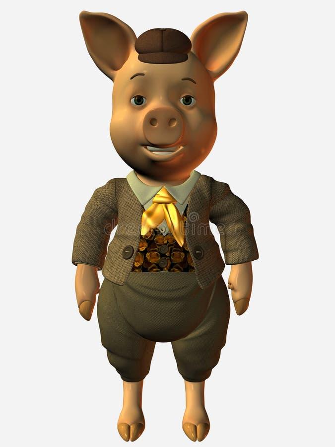 Cerdo de Toonimal stock de ilustración