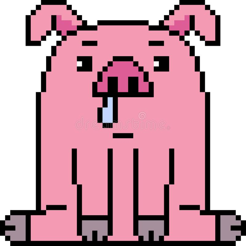 Cerdo del arte del pixel del vector libre illustration