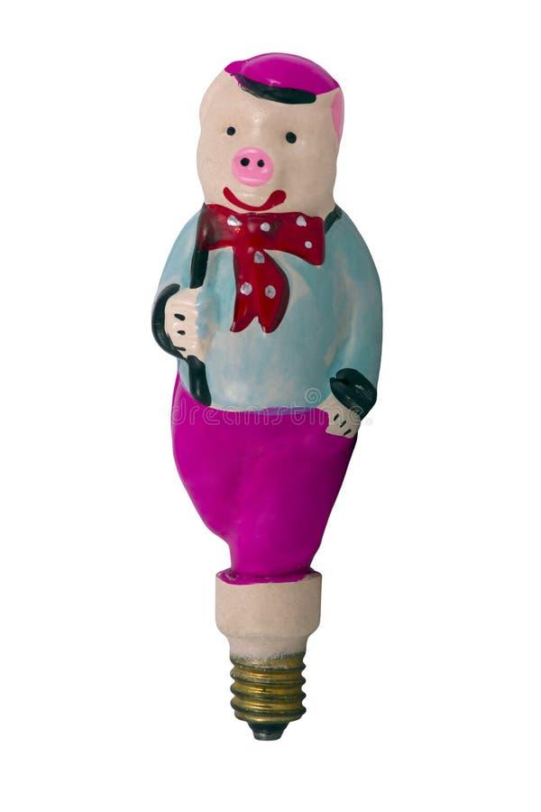 Cerdo del juguete de la Navidad fotografía de archivo