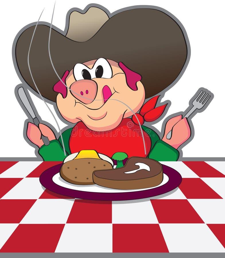 Cerdo del vaquero ilustración del vector