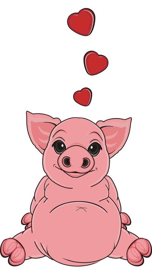 Cerdo en amor libre illustration