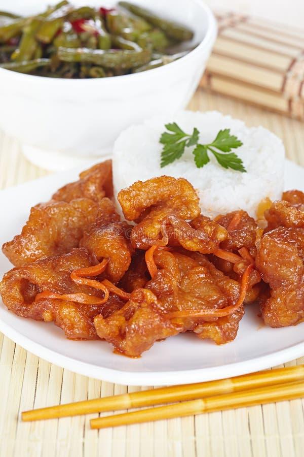 Cerdo en salsa agridulce foto de archivo