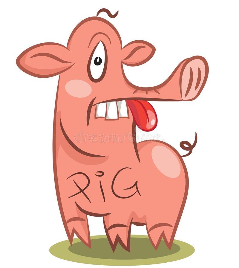 Cerdo estúpido divertido libre illustration