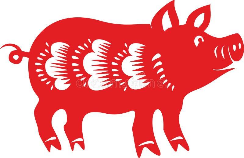 Cerdo, horóscopo lunar chino libre illustration