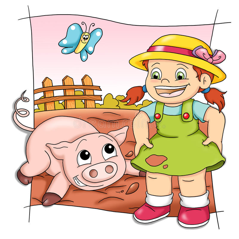 Cerdo juguetón libre illustration