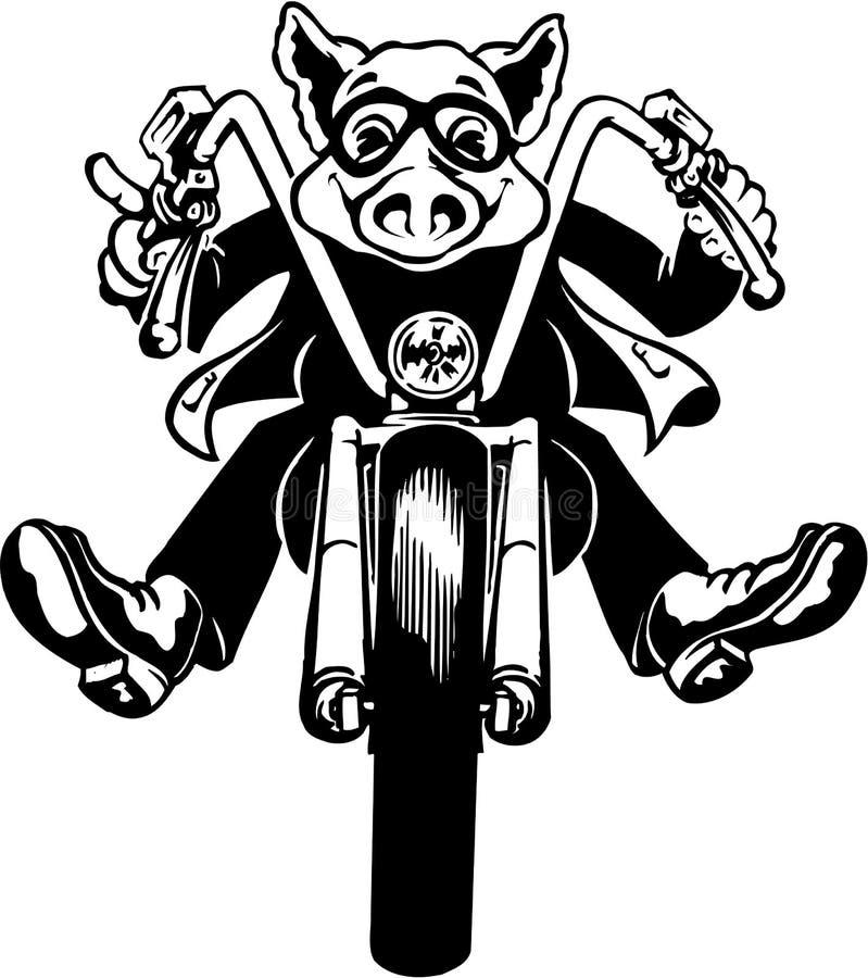 Cerdo Rider Illustration libre illustration