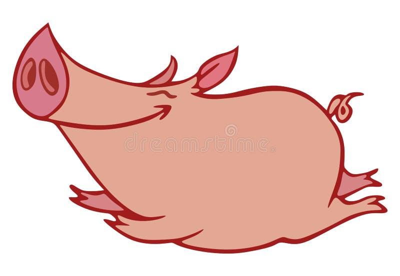 Cerdo rosado stock de ilustración