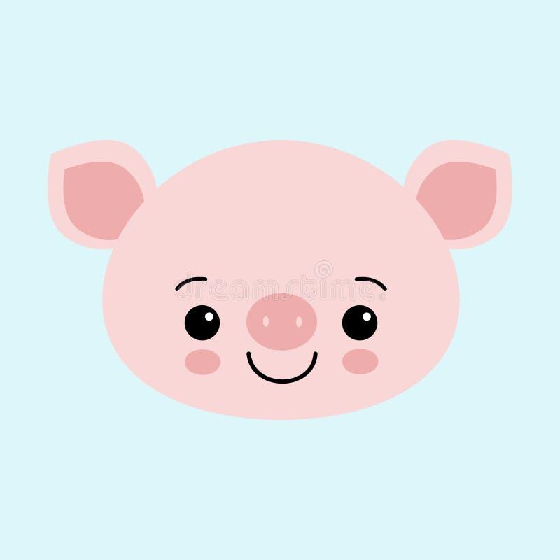 Cerdo rosado lindo Feliz Año Nuevo Símbolo chino de los 2019 años Carte cadeaux festivo excelente libre illustration