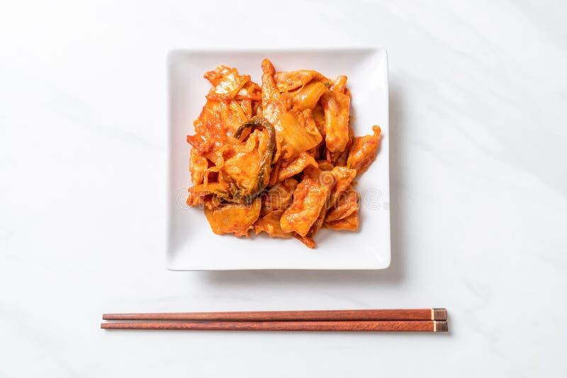 Cerdo sofrito con kimchi imagen de archivo libre de regalías