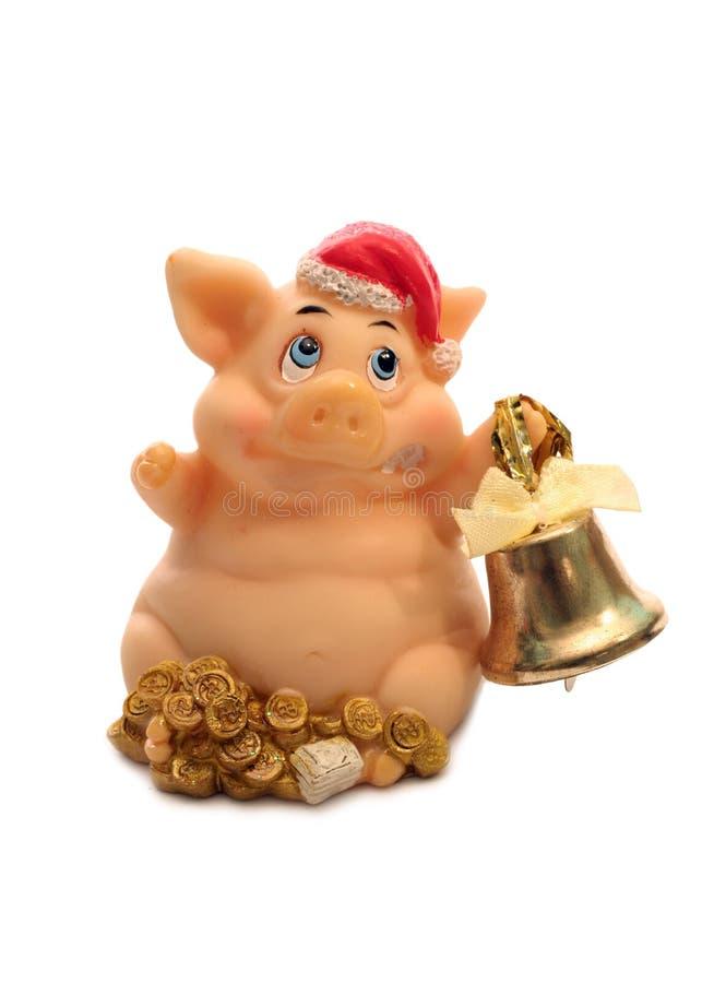 Cerdo y alarma imagen de archivo