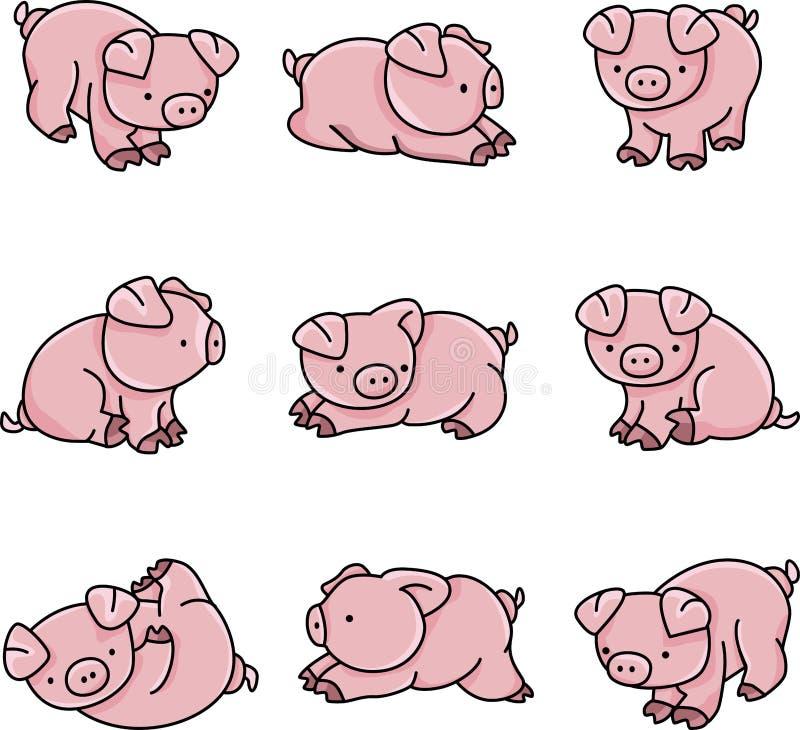 Cerdos del bebé ilustración del vector