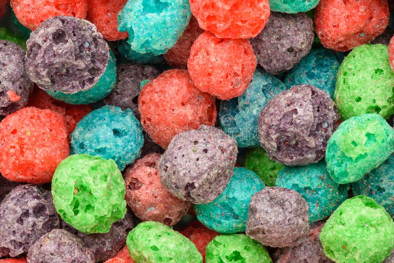 Cereal background. Colorful breakfast food. Colorful breakfast food. Cereal background stock photography