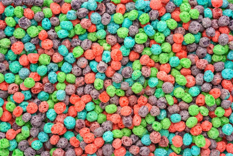 Colorful breakfast food. Cereal background. Cereal background. Colorful breakfast food royalty free stock photos