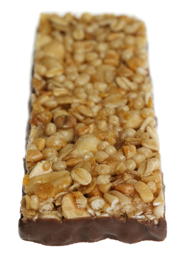 Download Cereal bar with chocolate stock image. Image of cereal - 25449815