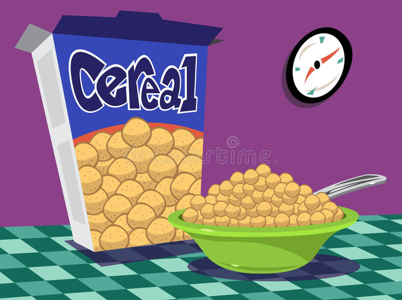 Download Cereal bowl and box stock vector. Image of illustration - 32689032