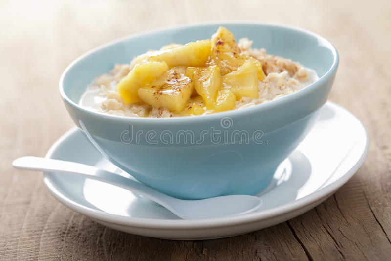 Download Cereal With Caramelized Apple Stock Photo - Image: 24239440