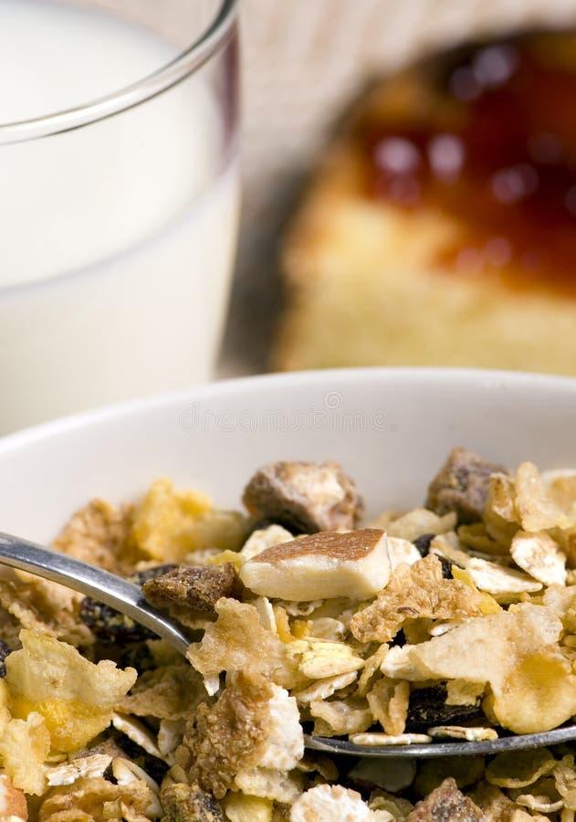 Cereal de desayuno y tostada 2 fotos de archivo