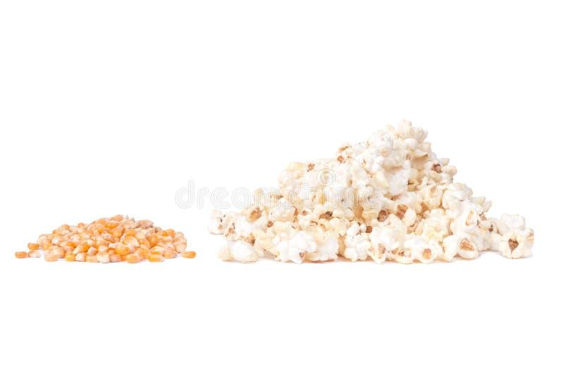 Cereal de las palomitas y del maíz fotografía de archivo