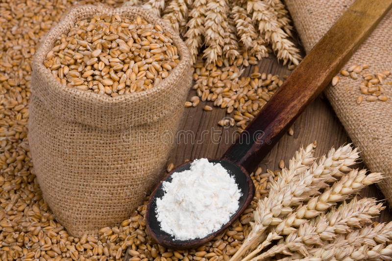 Cereal and flour royalty free stock image