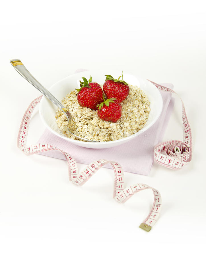 Download Cereal With Fresh Strawberry Stock Image - Image: 25202953