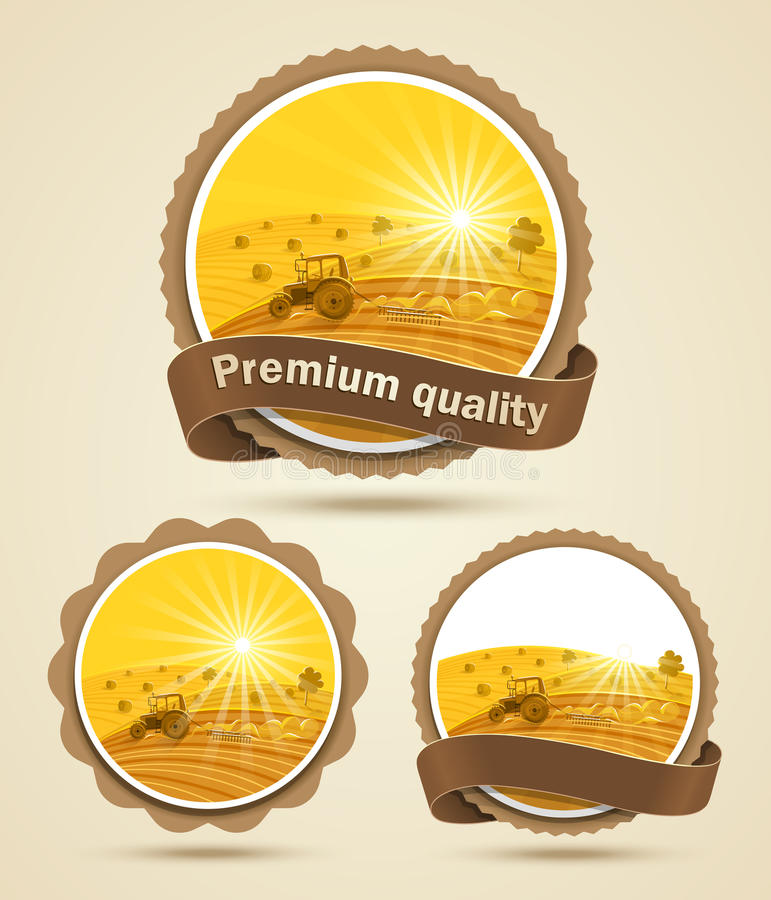 Free Cereal Harvest Label Stock Image - 25800911