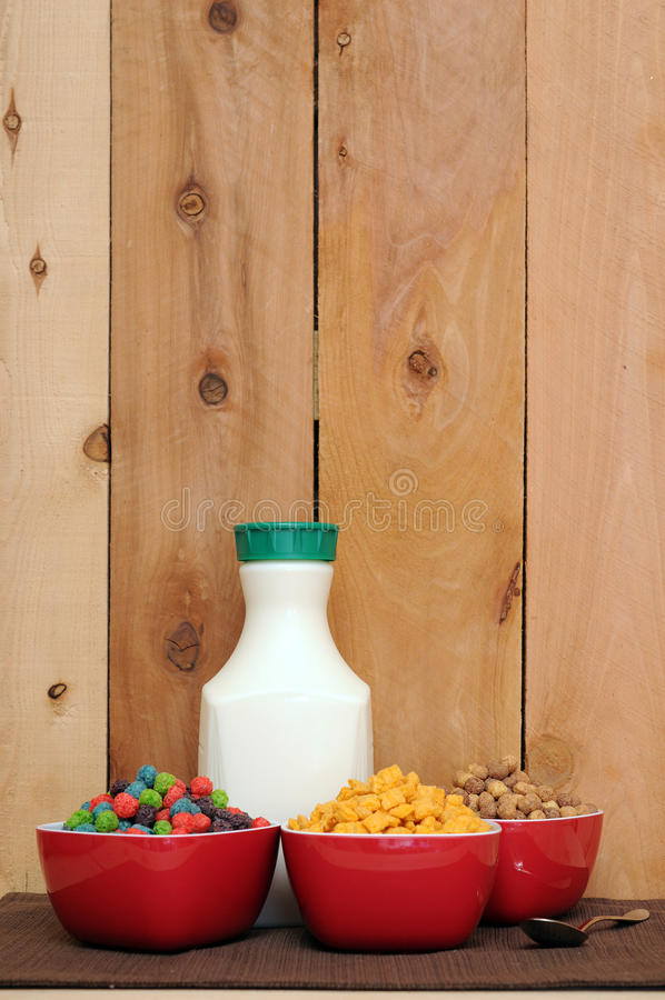 Cereal and milk stock photography