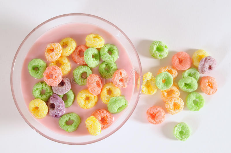 Cereal rings. royalty free stock images