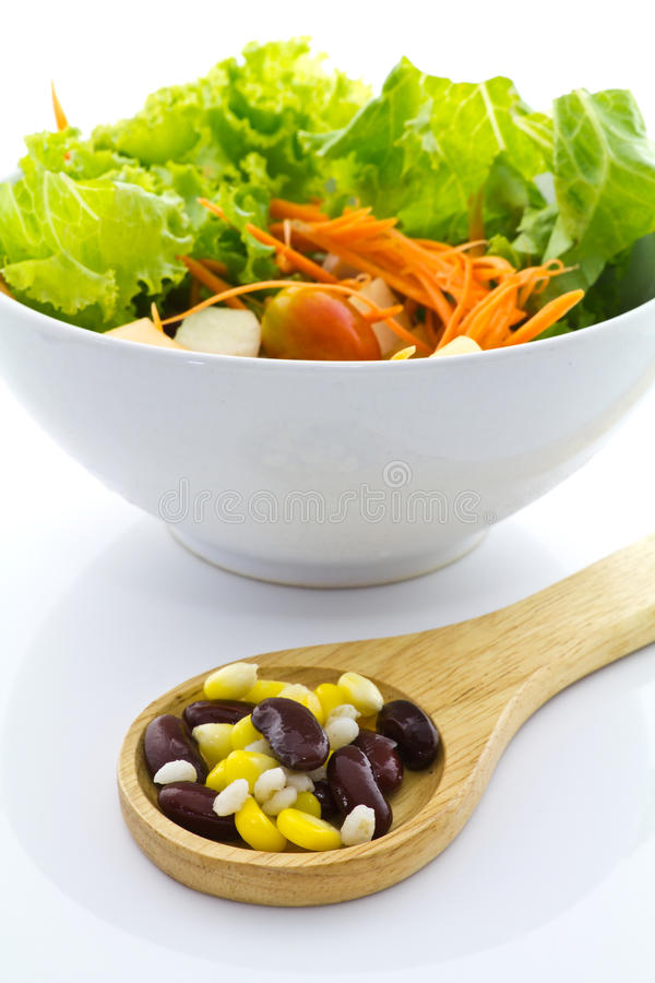 Cereal and salad stock photo
