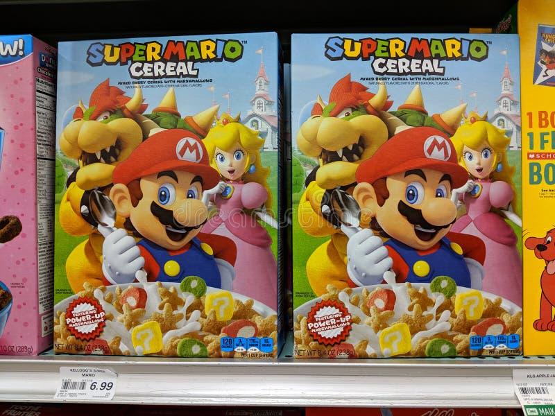 Cereal Super Mario fotos de archivo