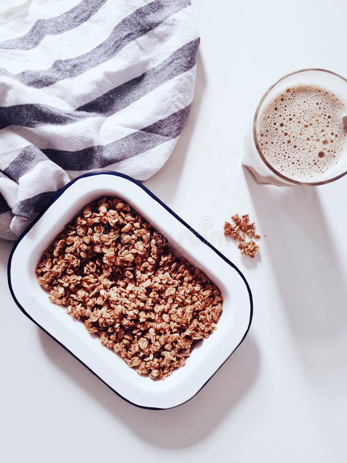 Cereal On White Container With Cup Of Coffee Free Public Domain Cc0 Image