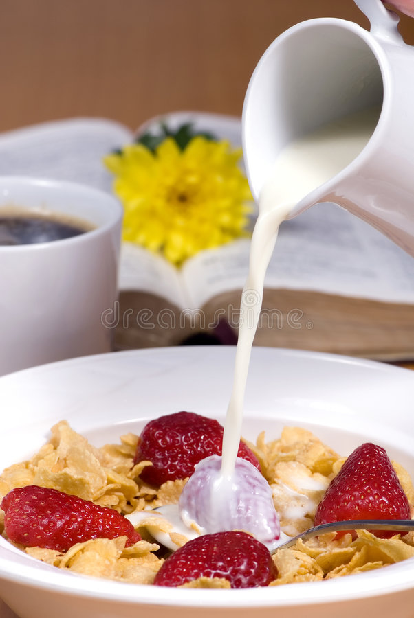 Free Cereal With Strawberries 2 Royalty Free Stock Images - 1836989