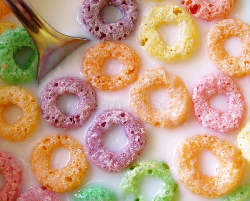 cereale al gusto di frutta immagine stock