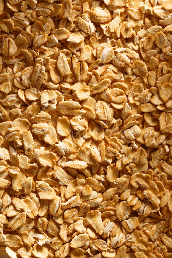 Cereale asciutto dell'avena immagine stock