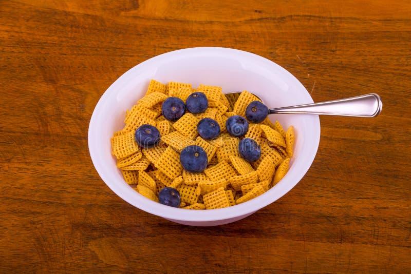 Cereale croccante del cereale con i mirtilli immagini stock libere da diritti